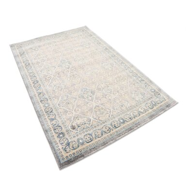 Kerensa�Gray Area Rug Rug Size: Rectangle 4 x 6
