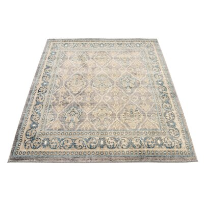 Kerensa�Gray Area Rug Rug Size: Square 4