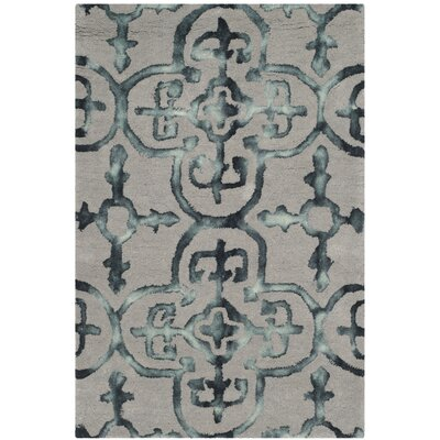 Kinder Hand-Tufted Gray/Charcoal Area Rug Rug Size: Rectangle 2 x 3