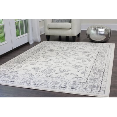 Emmalynn Ivory/Gray Area Rug Rug Size: Rectangle 65 x 92