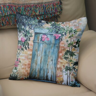 24 Anya Wood Door Throw Pillow