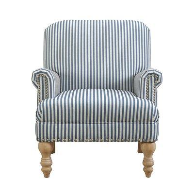 Bashir Armchair Upholstery: Blue/White