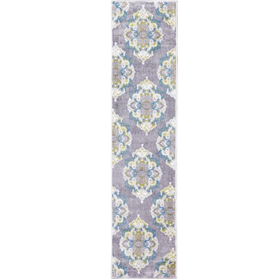 Kallie Gray Area Rug Rug Size: Runner 16 x 72