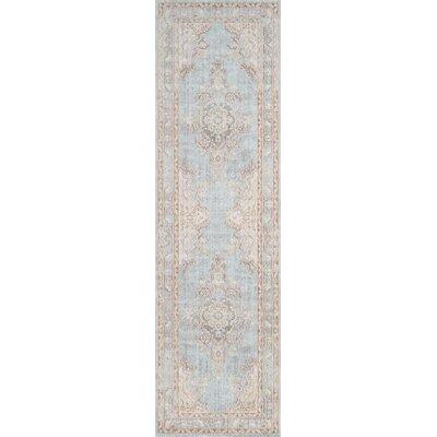 Sofian Blue Oriental Area Rug Rug Size: Runner 27 x 8