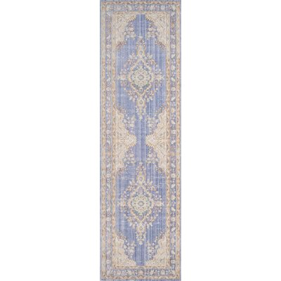 Sofian Periwinkle Area Rug Rug Size: Runner 27 x 8