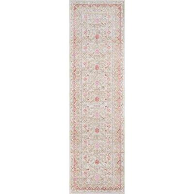 Sofian Pink Area Rug Rug Size: Runner 27 x 8