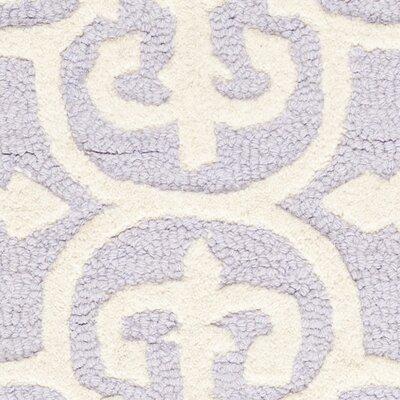 Marlen Lavender / Ivory Area Rug Rug Size: Rectangle 26 x 4