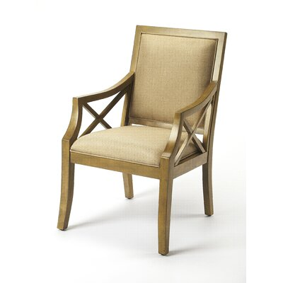 Rohit Harcourt Armchair Finish: Light Brown & Cappuccino