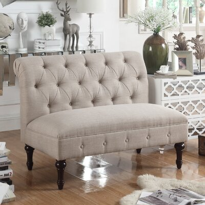 Lauryn Tufted Chesterfield Loveseat Upholstery Color: Beige