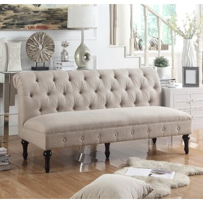 Lauryn Tufted Chesterfield Sofa Upholstery Color: Beige