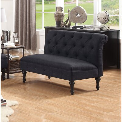 Lauryn Tufted Chesterfield Loveseat Upholstery: Charcoal