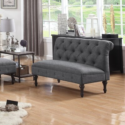 Lauryn Tufted Chesterfield Sofa Upholstery: Gray