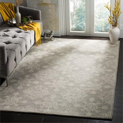 Skyla Hand-Tufted Light Beige Area Rug Rug Size: Rectangle 5 x 8