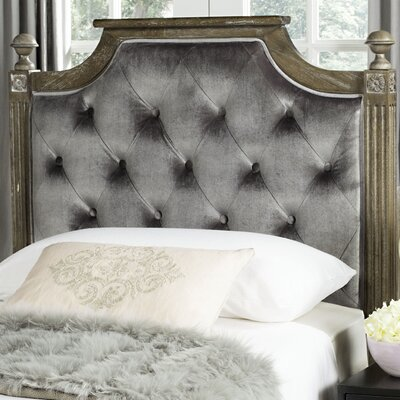 Binne Upholstered Panel Headboard Size: Twin, Color: Grey