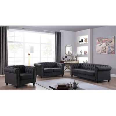 Sharniece Modern Loveseat Upholstery: Dark Gray