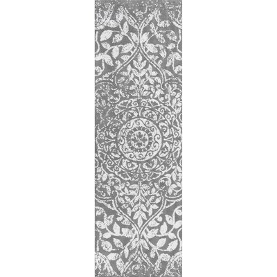 Aldora Gray Area Rug Rug Size: Runner 26 x 8