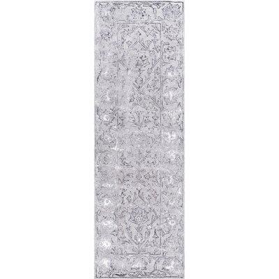Maryam Hand-Tufted Wool Dark Gray Area Rug Rug Size: Runner 26 x 8