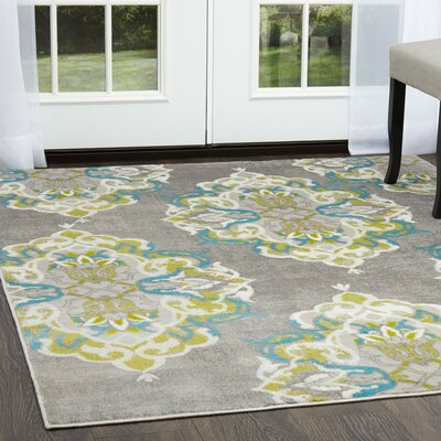 Kallie Gray Area Rug Rug Size: Rectangle 52 x 72