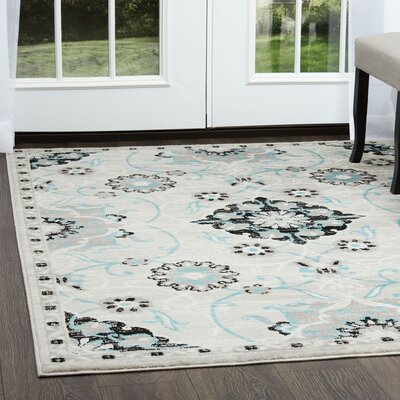 Kallie Silver Area Rug Rug Size: Rectangle 79 x 102