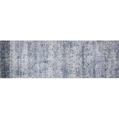 Jent Blue/Stone Area Rug Rug Size: Runner 27 x 8