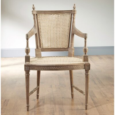 Reingard Woven Cane Armchair Finish: Pickled