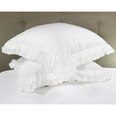 Kirchoff Ruffle Voile Sham Color: White