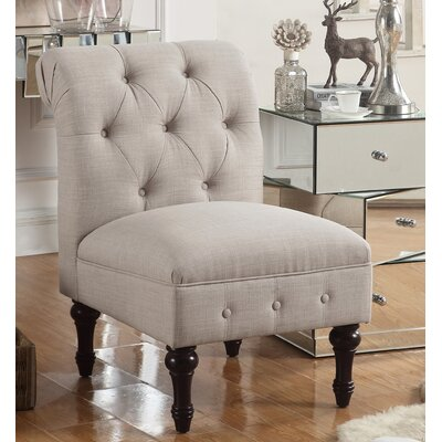 LaGuardia Tufted Slipper Chair Upholstery: Warm Beige