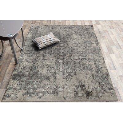 Cadence Transitional Charcoal Area Rug Rug Size: Rectangle 5 3 x 7 7