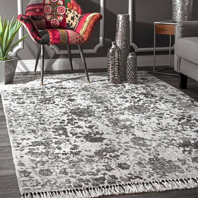 Latrell Flatweave Gray Area Rug Rug Size: Rectangle 5' x 8'
