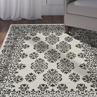 LaJuante Charcoal/Beige Area Rug Rug Size: Rectangle 79 x 95