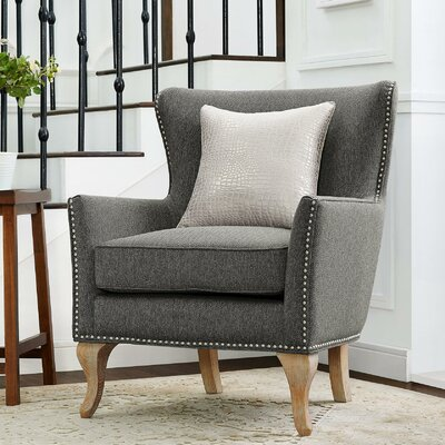 Zubair Armchair Upholstery: Solid Charcoal