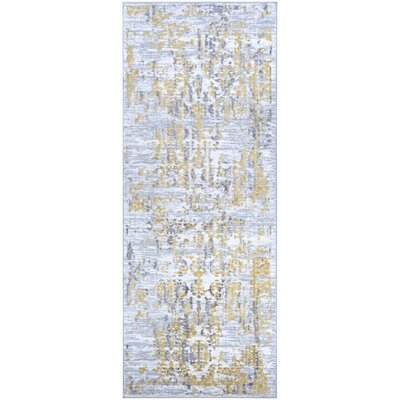 Jakes Gold/Silver Area Rug Rug Size: Runner 23 x 76