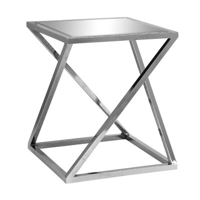 Candace Chrome Z End Table