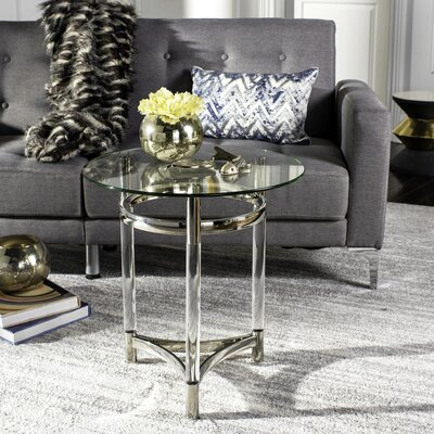 Alexios Round Glass End Table