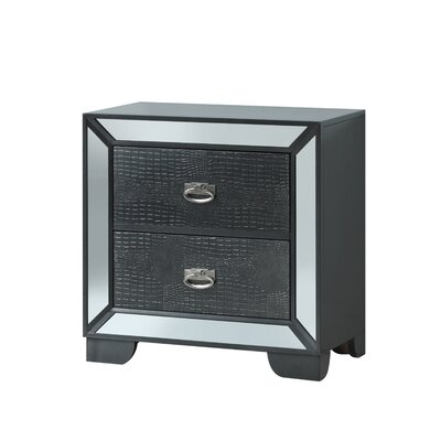 Jemma 2 Drawer Nightstand Color: Black