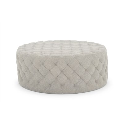 Darcella Round Ottoman Upholstery: Light Gray