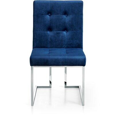 Hartford Velvet Parsons Chair Upholstery: Navy
