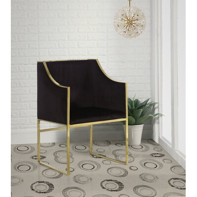 Zenia Armchair Upholstery: Black