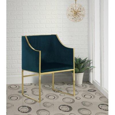 Zenia Armchair Upholstery: Green