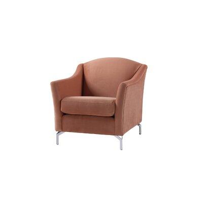 Alrai Camelback Armchair Upholstery: Orange