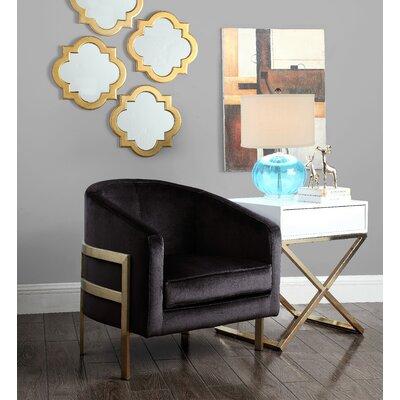 Zetta Barrel Chair Upholstery: Black