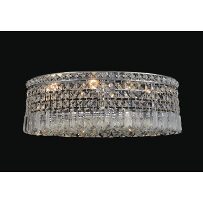Navya 6-Light Glass Shade Flush Mount