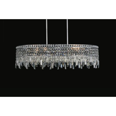 Navya Contemporary 10-Light Drum Shade Crystal Pendant
