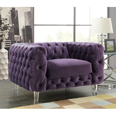 Bourn Armchair Upholstery: Purple