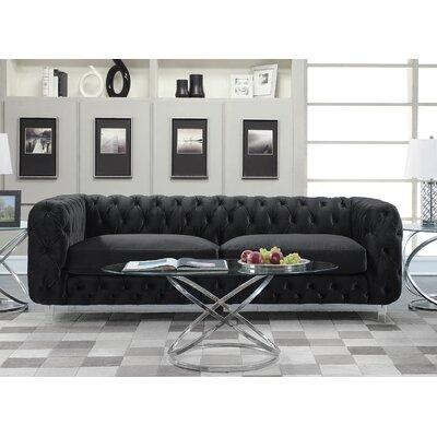 Bourn Standard Sofa Upholstery: Black