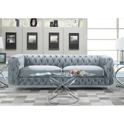 Bourn Chesterfield Sofa Upholstery: Gray