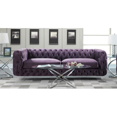 Bourn Standard Sofa Upholstery: Purple