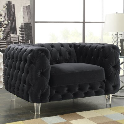 Bourn Armchair Upholstery: Black