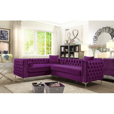 Alsafi Sectional Upholstery: Plum, Orientation: Left Hand Facing