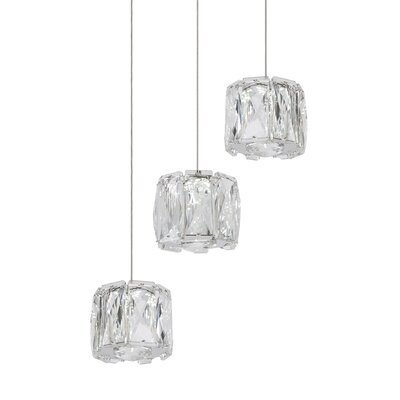 Adeliza Exquisite Diamond 3-Light LED Crystal Pendant